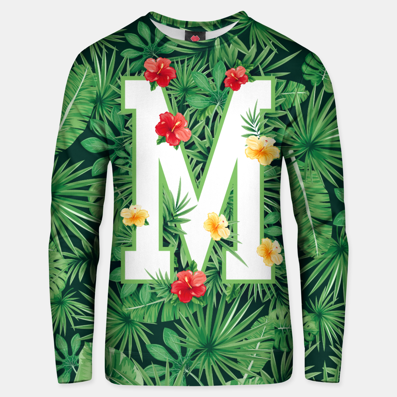 Image of Capital Letter M Alphabet Monogram Initial Flower Gardener Unisex sweater - Live Heroes