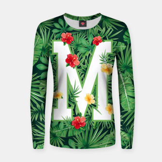 Capital Letter M Alphabet Monogram Initial Flower Gardener Women sweater thumbnail image