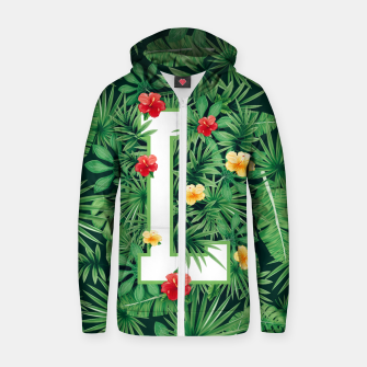 Capital Letter L Alphabet Monogram Initial Flower Gardener Zip up hoodie thumbnail image