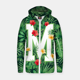 Capital Letter M Alphabet Monogram Initial Flower Gardener Zip up hoodie thumbnail image