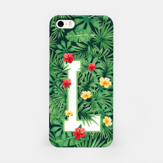 Capital Letter L Alphabet Monogram Initial Flower Gardener iPhone Case thumbnail image