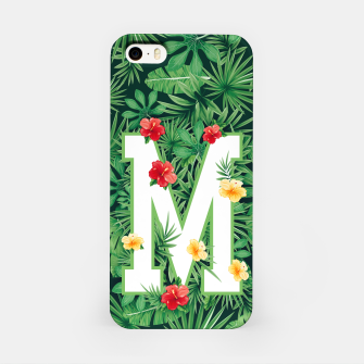 Capital Letter M Alphabet Monogram Initial Flower Gardener iPhone Case thumbnail image