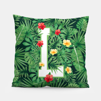 Capital Letter L Alphabet Monogram Initial Flower Gardener Pillow thumbnail image