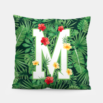 Capital Letter M Alphabet Monogram Initial Flower Gardener Pillow thumbnail image
