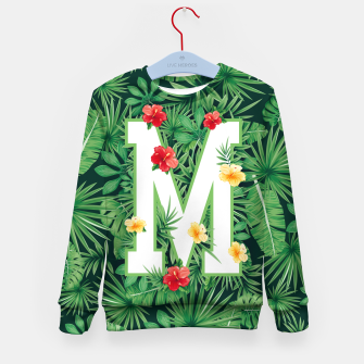 Capital Letter M Alphabet Monogram Initial Flower Gardener Kid's sweater thumbnail image