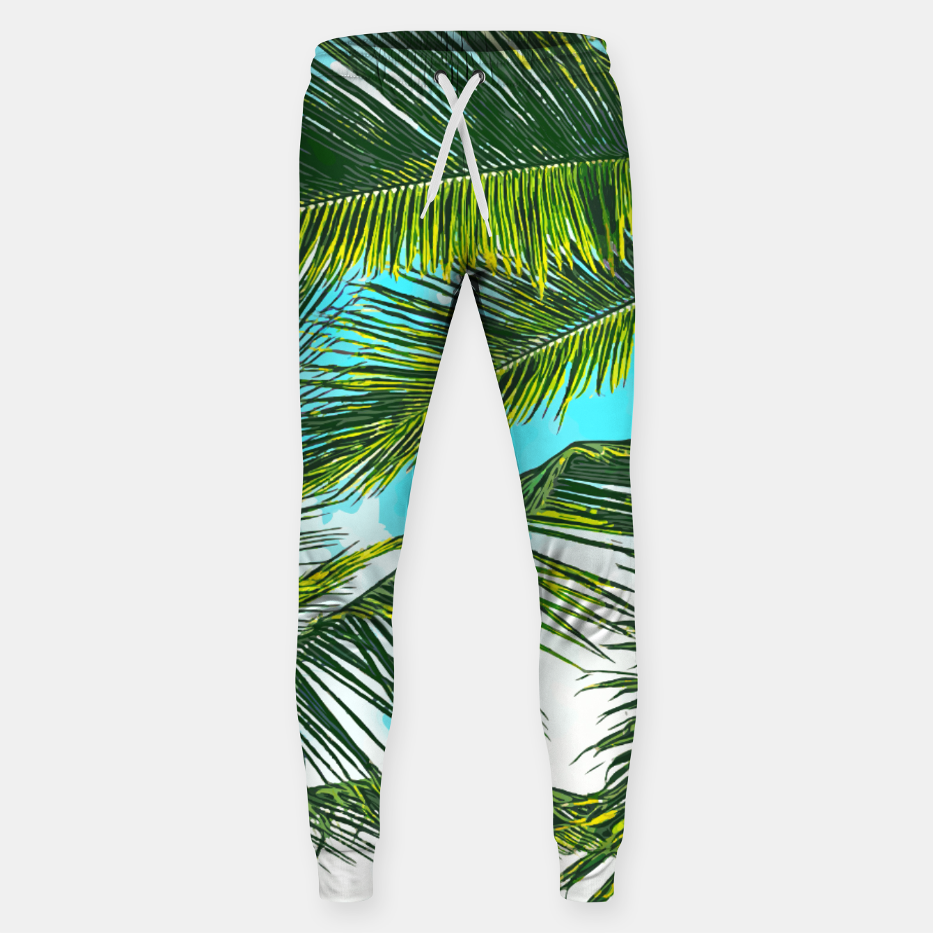 Image of Life Under Palm Trees, Colorful Bohemian Beachy, Tropical Travel Nature Graphic Design  Sweatpants - Live Heroes