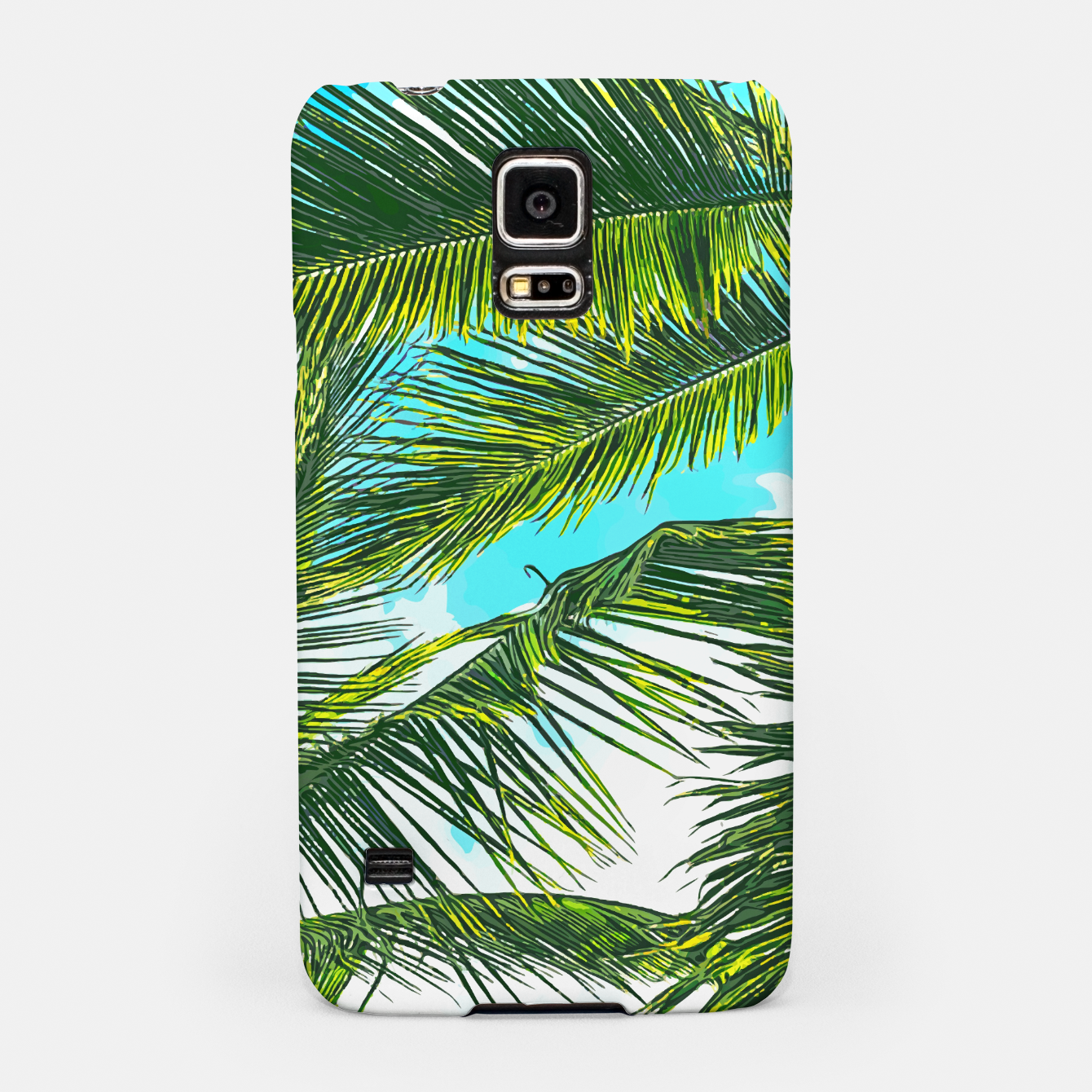 Image of Life Under Palm Trees, Colorful Bohemian Beachy, Tropical Travel Nature Graphic Design  Samsung Case - Live Heroes