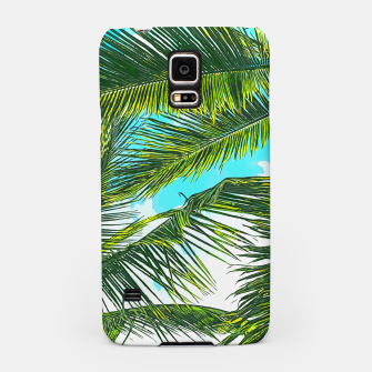 Miniatur Life Under Palm Trees, Colorful Bohemian Beachy, Tropical Travel Nature Graphic Design  Samsung Case, Live Heroes