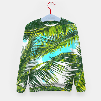 Miniatur Life Under Palm Trees, Colorful Bohemian Beachy, Tropical Travel Nature Graphic Design  Kid's sweater, Live Heroes