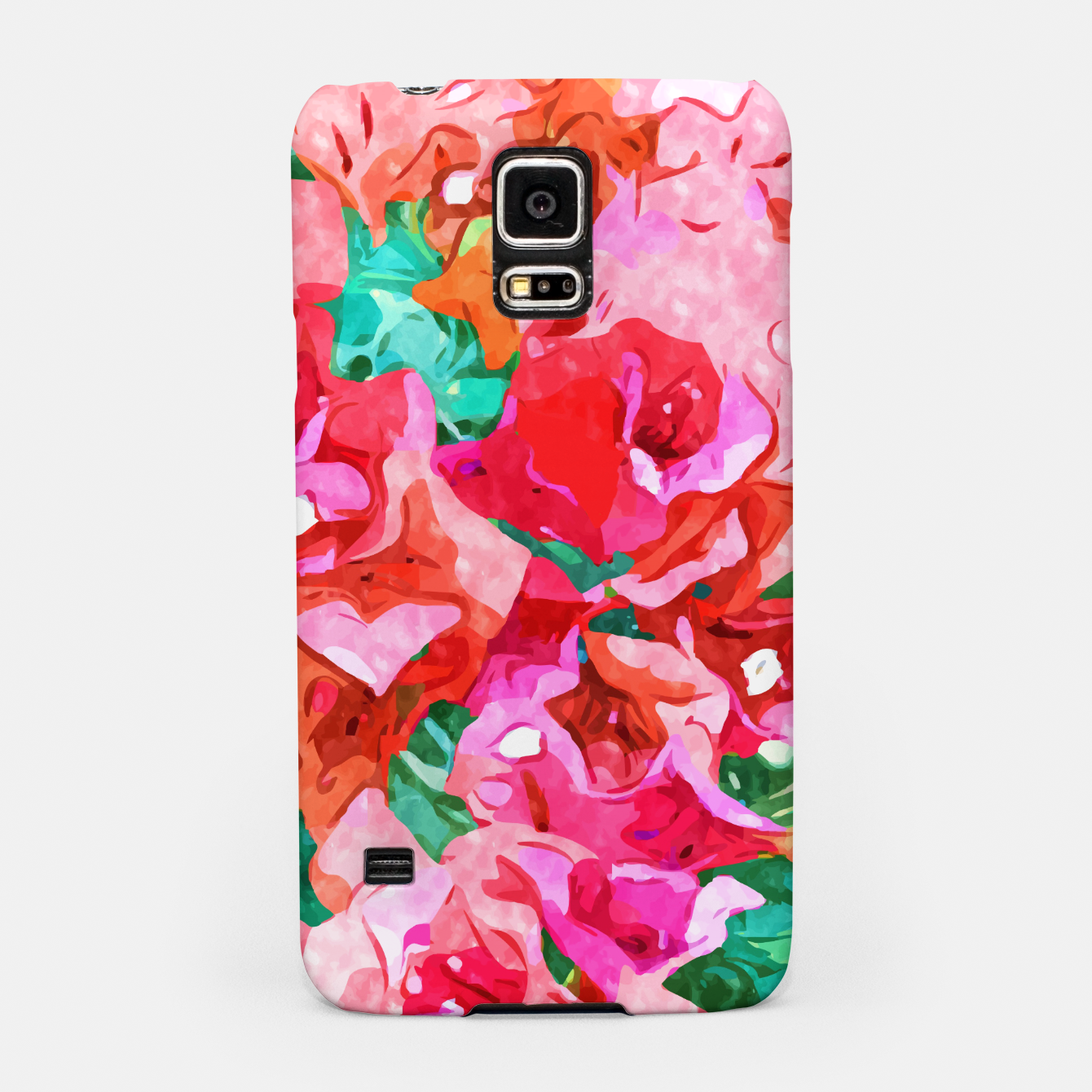 Image of Wild Bougainvillea, Bloom Summer Floral Bohemian Pop of Color Botanical Jungle Watercolor Painting Samsung Case - Live Heroes