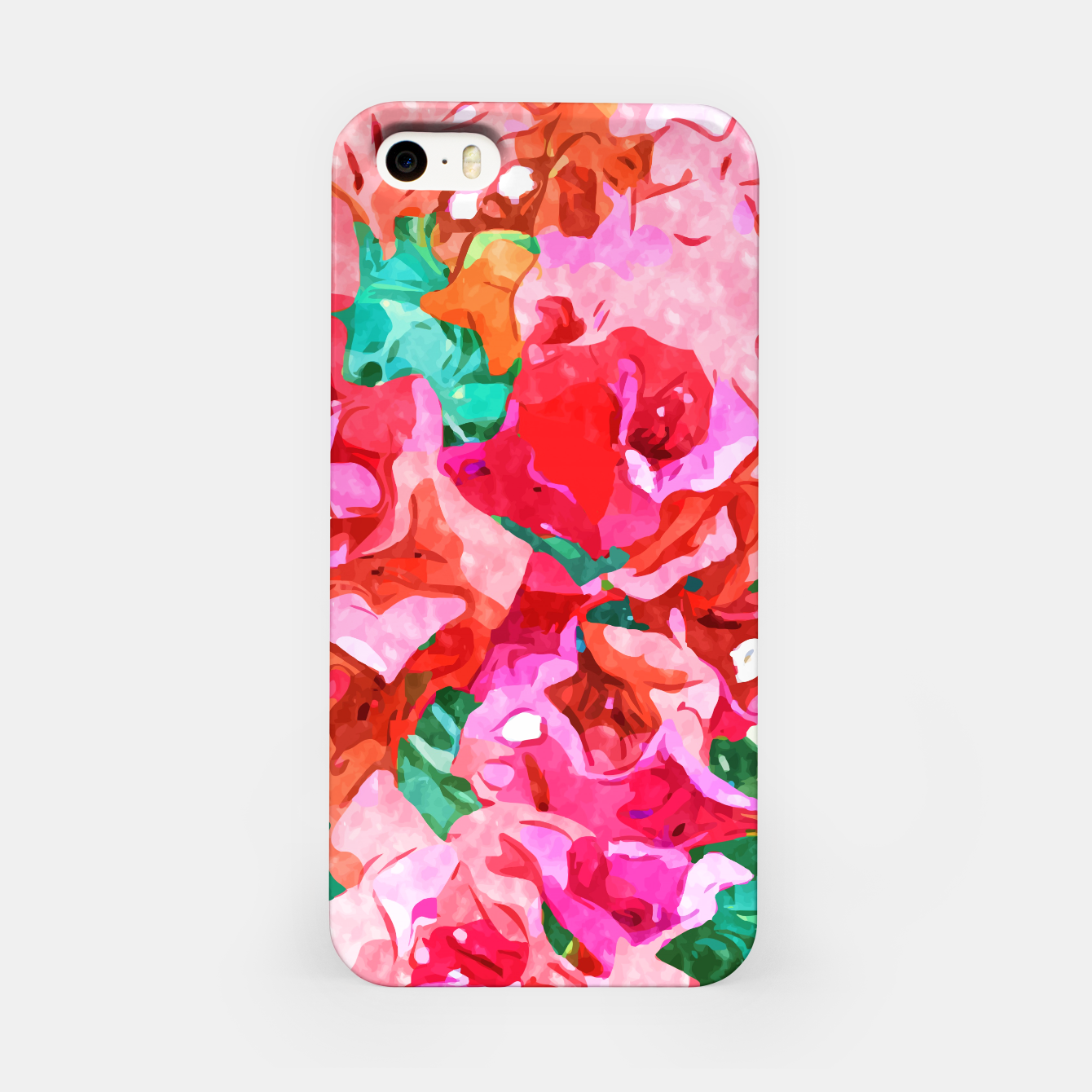 Image of Wild Bougainvillea, Bloom Summer Floral Bohemian Pop of Color Botanical Jungle Watercolor Painting iPhone Case - Live Heroes