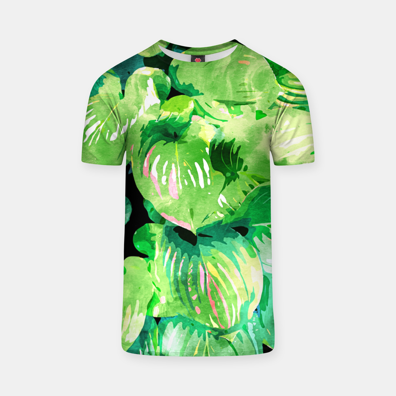 Image of Colors Of The Jungle, Rain Tropical Forest Watercolor Painting, Lush Bohemian Plants Illustration  T-shirt - Live Heroes