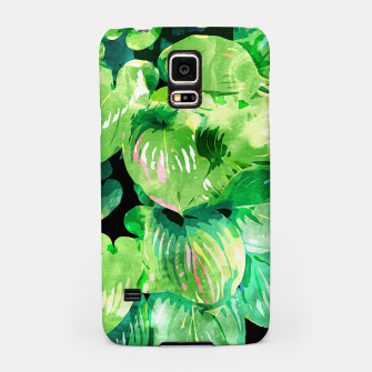Thumbnail image of Colors Of The Jungle, Rain Tropical Forest Watercolor Painting, Lush Bohemian Plants Illustration  Samsung Case, Live Heroes