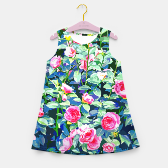 You rose alone through winter's coldest storm but look how full you've grown Girl's summer dress thumbnail image