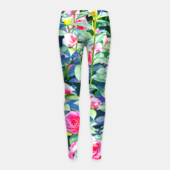 You rose alone through winter's coldest storm but look how full you've grown Girl's leggings thumbnail image