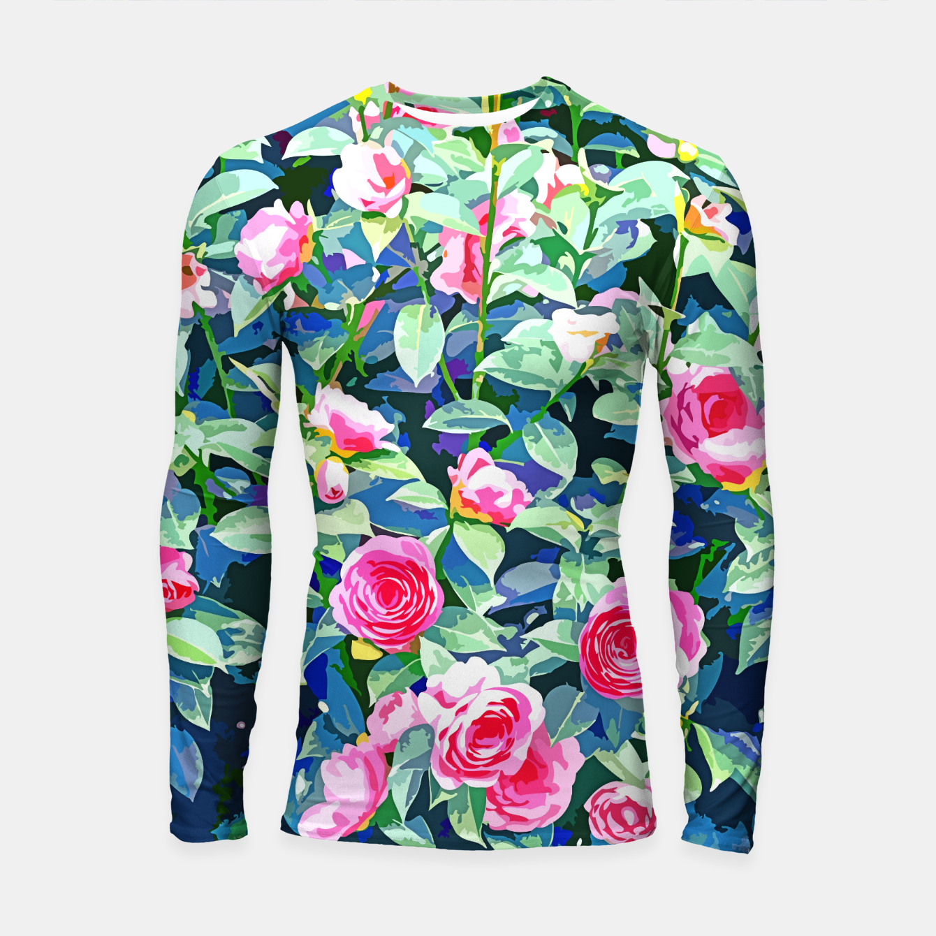 Image of You rose alone through winter's coldest storm but look how full you've grown Longsleeve rashguard  - Live Heroes