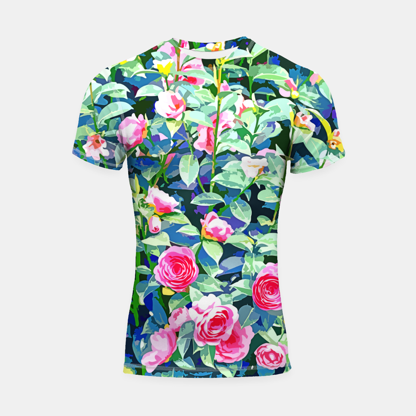 Image of You rose alone through winter's coldest storm but look how full you've grown Shortsleeve rashguard - Live Heroes