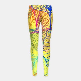 Thumbnail image of I am the wind. One day I will fly free.  Girl's leggings, Live Heroes