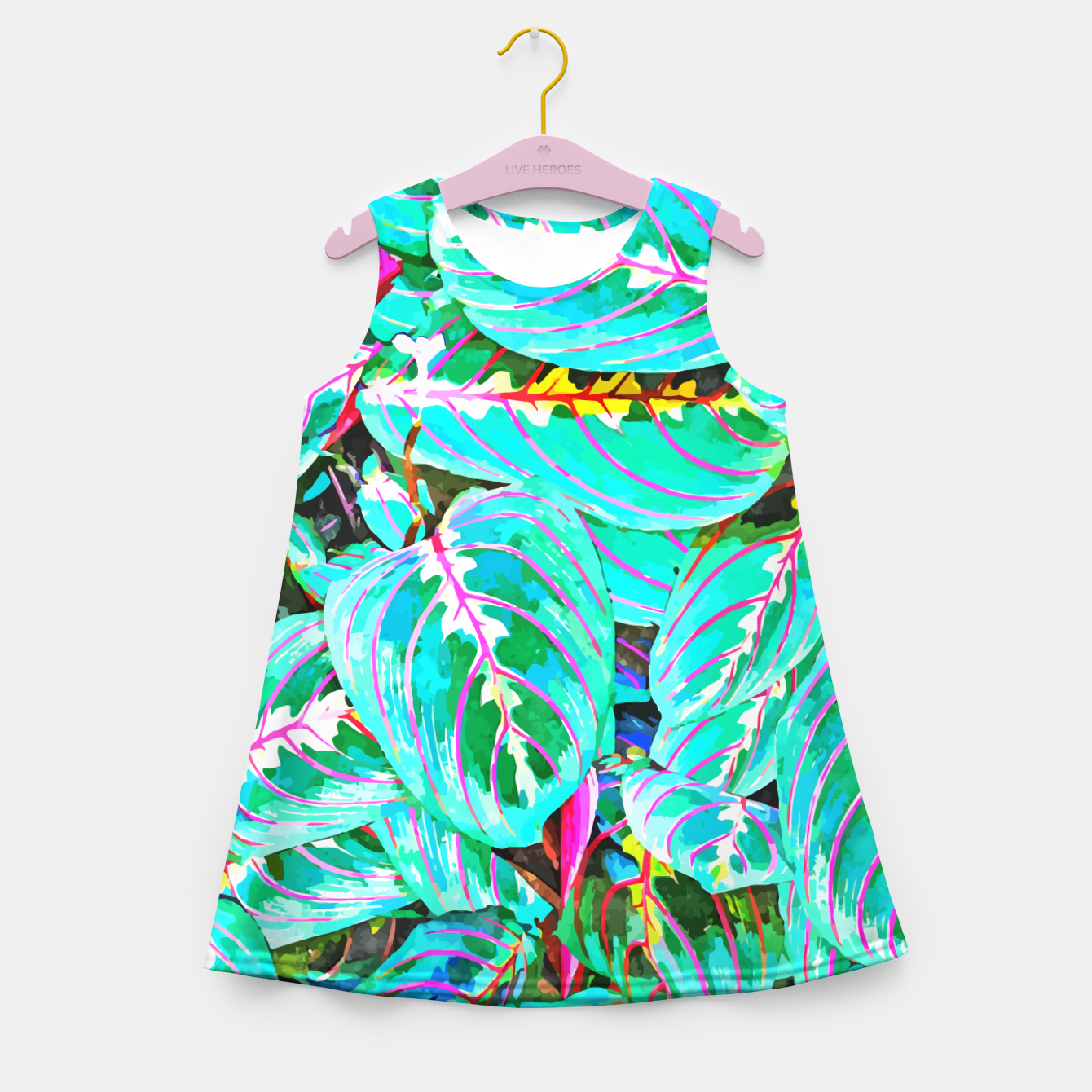 Image of Let's find a beautiful place to get lost  Girl's summer dress - Live Heroes