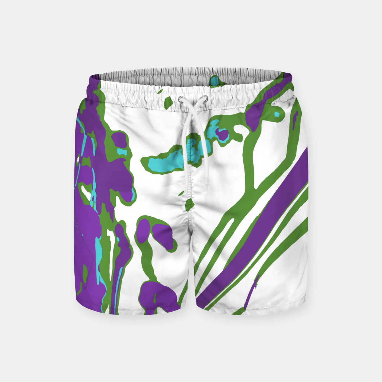 Image of Multicolored Abstract Print Swim Shorts - Live Heroes