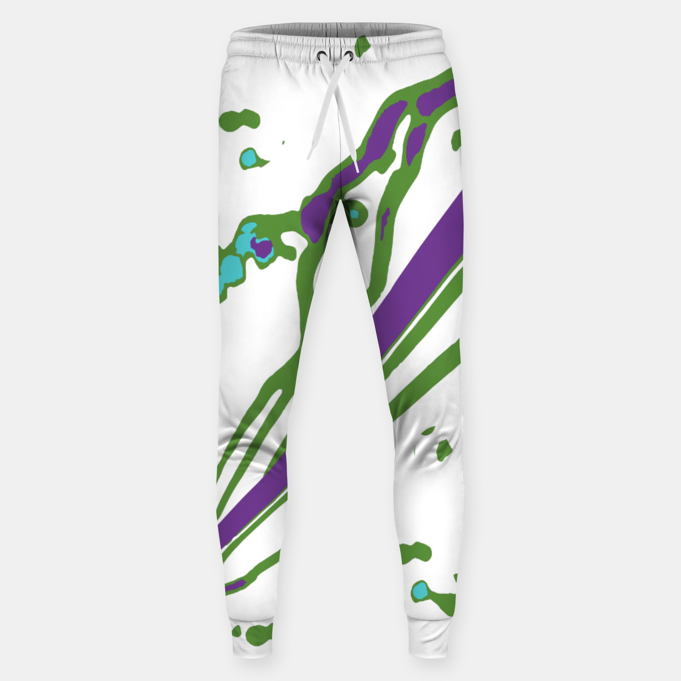 Image of Multicolored Abstract Print Sweatpants - Live Heroes