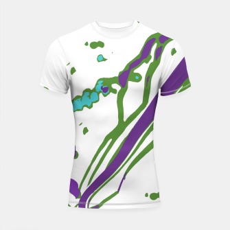 Thumbnail image of Multicolored Abstract Print Shortsleeve rashguard, Live Heroes