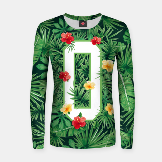 Capital Letter O Alphabet Monogram Initial Flower Gardener Women sweater thumbnail image