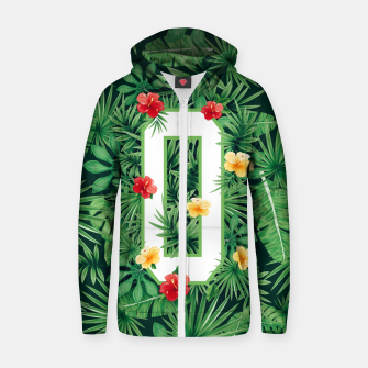 Capital Letter O Alphabet Monogram Initial Flower Gardener Zip up hoodie thumbnail image