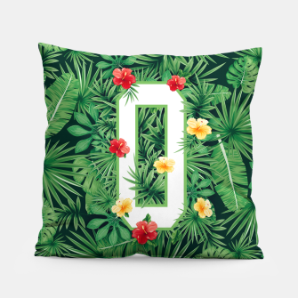Capital Letter O Alphabet Monogram Initial Flower Gardener Pillow thumbnail image