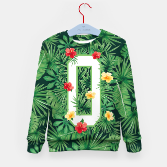 Capital Letter O Alphabet Monogram Initial Flower Gardener Kid's sweater thumbnail image