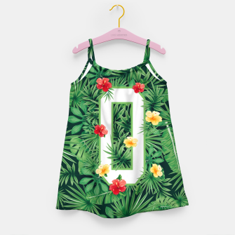 Capital Letter O Alphabet Monogram Initial Flower Gardener Girl's dress thumbnail image