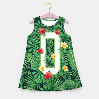 Capital Letter O Alphabet Monogram Initial Flower Gardener Girl's summer dress thumbnail image