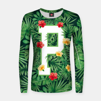 Capital Letter P Alphabet Monogram Initial Flower Gardener Women sweater thumbnail image