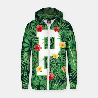 Capital Letter P Alphabet Monogram Initial Flower Gardener Zip up hoodie thumbnail image