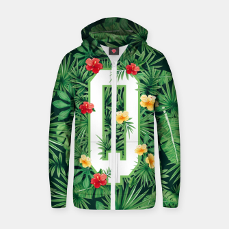 Capital Letter Q Alphabet Monogram Initial Flower Gardener Zip up hoodie thumbnail image