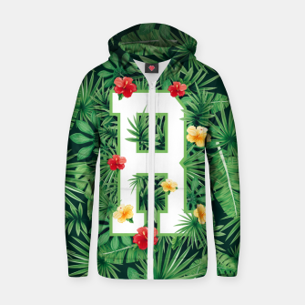 Capital Letter R Alphabet Monogram Initial Flower Gardener Zip up hoodie thumbnail image