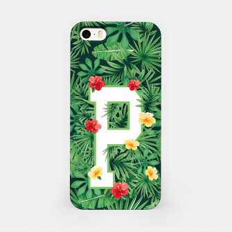 Capital Letter P Alphabet Monogram Initial Flower Gardener iPhone Case thumbnail image