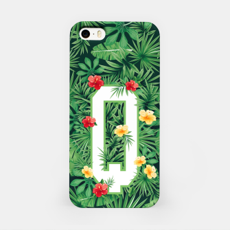 Capital Letter Q Alphabet Monogram Initial Flower Gardener iPhone Case thumbnail image