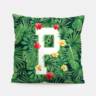 Capital Letter P Alphabet Monogram Initial Flower Gardener Pillow thumbnail image