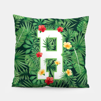 Capital Letter R Alphabet Monogram Initial Flower Gardener Pillow thumbnail image
