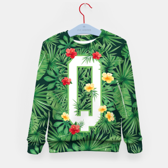 Capital Letter Q Alphabet Monogram Initial Flower Gardener Kid's sweater thumbnail image