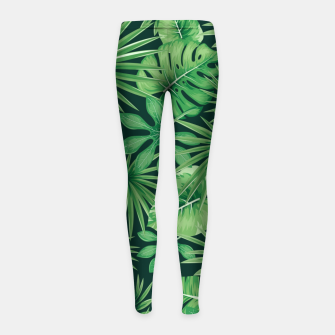 Capital Letter Q Alphabet Monogram Initial Flower Gardener Girl's leggings thumbnail image