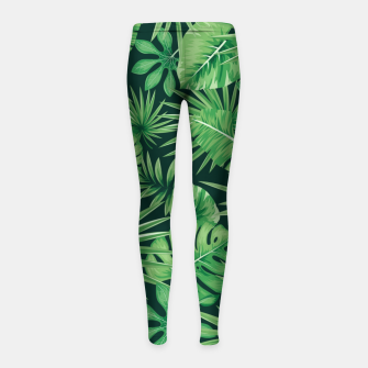Capital Letter R Alphabet Monogram Initial Flower Gardener Girl's leggings thumbnail image