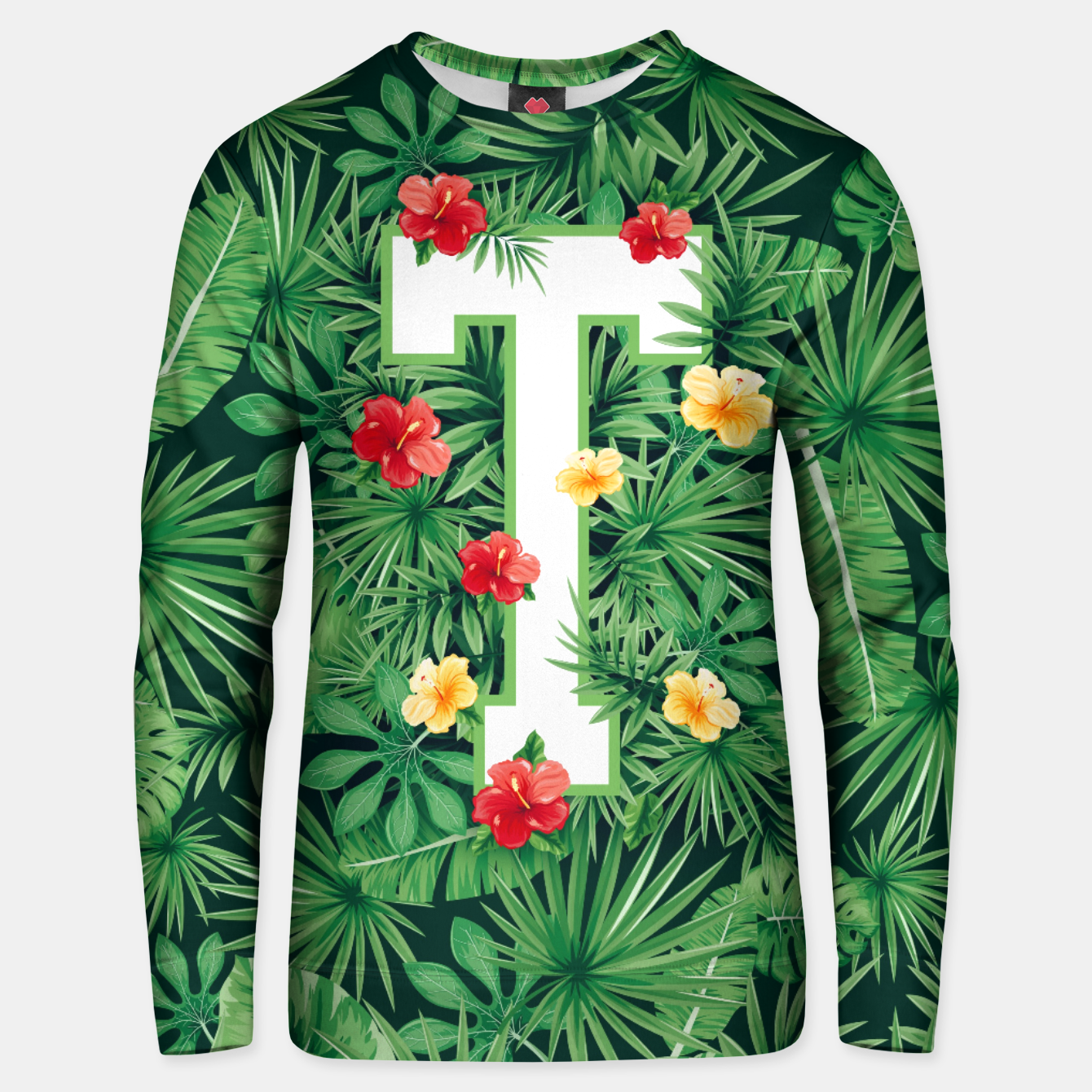 Image of Capital Letter T Alphabet Monogram Initial Flower Gardener Unisex sweater - Live Heroes