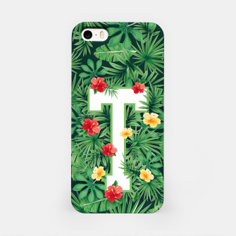 Capital Letter T Alphabet Monogram Initial Flower Gardener iPhone Case thumbnail image
