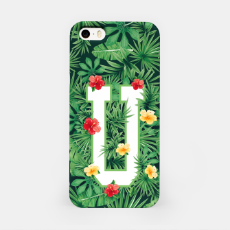 Capital Letter U Alphabet Monogram Initial Flower Gardener iPhone Case thumbnail image