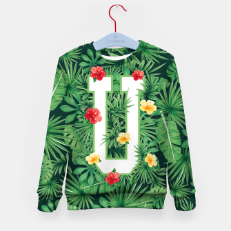 Capital Letter U Alphabet Monogram Initial Flower Gardener Kid's sweater thumbnail image