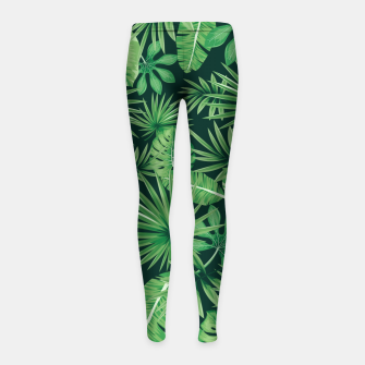 Capital Letter U Alphabet Monogram Initial Flower Gardener Girl's leggings thumbnail image