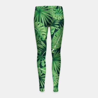 Thumbnail image of Capital Letter V Alphabet Monogram Initial Flower Gardener Girl's leggings, Live Heroes