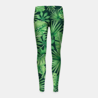 Thumbnail image of Capital Letter X Alphabet Monogram Initial Flower Gardener Girl's leggings, Live Heroes